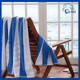 Tovagliolo di spiaggia tinto del filo di cotone (QHB68001)