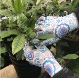 Gant de travail tricoté par polyester avec le plongement de nitriles (N1561)