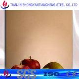 Chapa de aço inoxidável dourada laminada padrão do En 10088/2 Rosa do RUÍDO