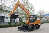 Excavador de la rueda de 12 toneladas con el soporte