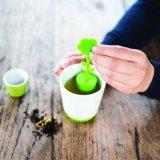 4 قطعة سليكوون محدّد [إينفوسر] خزفيّة شاي إبريق مع يبني