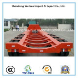 Aanhangwagen van de Vrachtwagen van Lowbed de Semi met 4 Assen van Chinese Vervaardiging