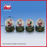 Globo da água de Papai Noel do Natal de Polyresin do globo da neve do diodo emissor de luz do Natal