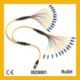 Om1 Om2 Om3 PVC&LSZH 3m Koord van het Flard van de Vezel MPO/MTP het Optische