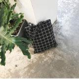 Do uso diário ocasional simples fêmea da bolsa da lona das mulheres do Tote da manta do saco da praia da lona da forma sacos de compra do ombro únicos