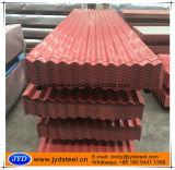 Hoja de acero acanalada del material para techos de PPGI