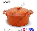 Casseruola antiaderante di ceramica con il coperchio per il commercio all'ingrosso
