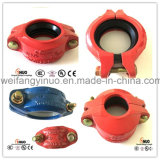 UL / FM / Ce Ductile Iron Pipe Fittings Grooved Rigid Flexible Coupling