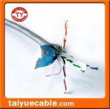 Câble LAN Du câble CAT6 de ftp avec la ligne protégée par messager avec le câble de déclenchement 0.58mm