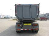 50tons acoplado de la carga 3-Axle semi con Hyva hidráulico