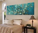 Le tableau décoratif d'art de mur de vente de 3 parties de mur de peinture de Van Gogh de maison moderne chaude de peinture peint sur la maison de toile estampe Mc-196