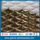 Prix profondément gravé en relief 304 316 de feuille d'acier inoxydable de la décoration 1mm en métal
