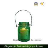 Bottiglia di vetro del vaso di muratore per bere. Decorazione domestica