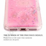 Tampa dura líquida movente do caso de Bling do Glitter líquido dinâmico para Samsung Apple