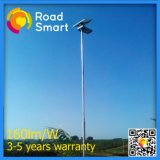 Lampe de rue solaire intégrée à LED de 20W avec panneau solaire