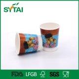 L'alta qualità impermeabile progetta la tazza per il cliente di carta doppia