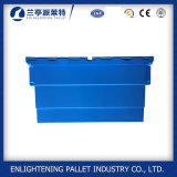 56L Bolsa de plástico em plástico móvel com tampa anexada