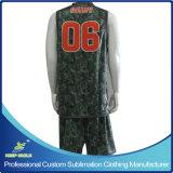 Формы Reversible баскетбола одиночного Ply изготовленный на заказ полного печатание сублимации наградные