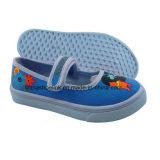 加硫させた足底が付いている多彩な子供のズック靴のスリップオン