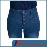 Джинсыы джинсовой ткани шкафута женщин высокие (JC1346)