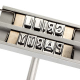 Bbq-einbrennendes Eisen mit veränderbaren Zeichen