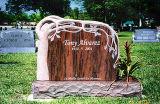 Custonmized를 가진 빨간 화강암 강직한 기념하는 묘비 또는 묘석