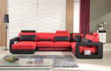Sofà di cuoio sezionale domestico moderno F8022