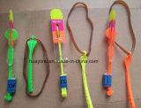Kobra-Abschussrampen-Glühen schnellt Hubschrauber-Katapult-Nachtflugblatt-Spielzeug hoch