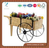 Steel Wheelsの木のFlower Display Cart
