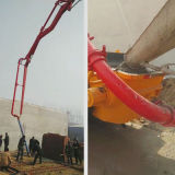 Machines de construction A8 mettant le camion de pompe de mélangeur concret en vente