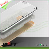Caso Bumper molle posteriore del coperchio TPU di Bling di scintillio per il iPhone 6s