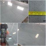 輝きのカウンタートップのための白い人工的な石造りの水晶平板