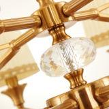 Lampadario a bracci del ferro personalizzato alta qualità del nuovo prodotto con lo schermo del tessuto (D-6107/6)