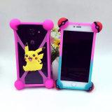 ユニバーサルPokemon Pokeball Pikachuのシリコーンの携帯電話の箱
