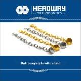 Prodotti ortodontici, occhiello basso rotondo accessorio con la catena