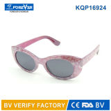 FDA neuve UV400 de la CE de rassemblement de lunettes de soleil de gosses du modèle Kqp16924