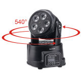 Mini indicatore luminoso capo mobile professionale di 5X18W Rgabwuv