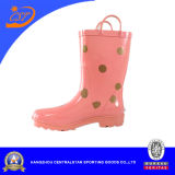 Розового Rubber Rain Boots Color Girls с Dots Kr027