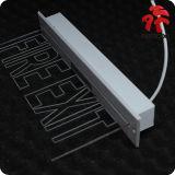 Segno dell'uscita di sicurezza del LED con installazione messa
