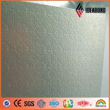 Painel ondulado de gravação do alumínio externo revestido de PVDF (ouro 011 metálicos)