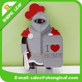 Logo adapté aux besoins du client promotionnel imprimé autour de l'aimant de réfrigérateur en métal de bidon