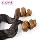 Colorir o fechamento brasileiro do cabelo de Ombre da onda T1b/30 frouxa