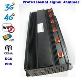 6 Antenne 15W 60m WiFi G/M 3G 4G Signal Jammer WiFi Signal Jammer