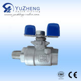 "3/8 "" T Type 3 Way Ball Valve avec OIN Pad"