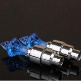 4 Farben-Options-Legierungs-materielles Qualitäts-Diamant-Rad-Gummireifen-Licht-Fahrrad-Ventilverschraubung-Licht