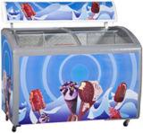 Eiscreme-Gefriermaschine-Sonderverkauf, ETL genehmigte Brust-Gefriermaschine, gebogene Glastür-Gefriermaschine
