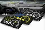 "W02 5.5 "" Displayの上のOBD2 Obdii Kmh MPH Voltage Speed Warning System Car Hud Car Head"