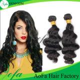 Человеческие волосы девственницы цены по прейскуранту завода-изготовителя 7A перуанские Remy