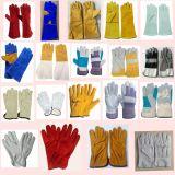Длинние кожаный двойные перчатки заварки при Кевлар, кожаный работая поставщик ладони перчаток, Cow Split кожаный перчатки для пользы Welder
