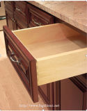 Bckの米国式の赤いチェリーの純木フレームの食器棚